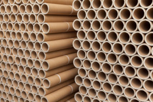 stack of cardboard rolls